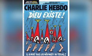 La une de «Charlie Hebdo» du 30 août sur les victimes de la tempête Harvey.