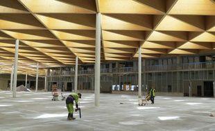 La future grande halle du MIN de Nantes.