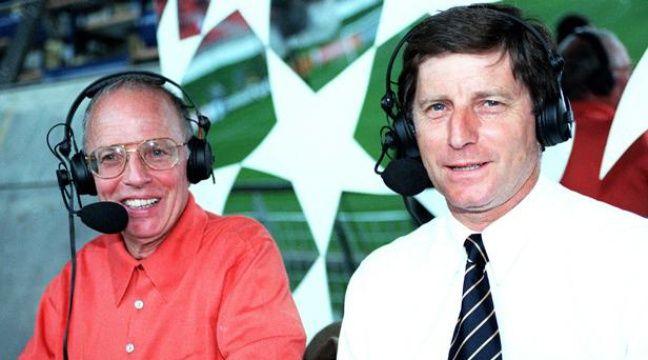Thierry Roland et Jean-Michel Larqué en septembre 1997. – THOMAS JEAN-PAUL/SIPA