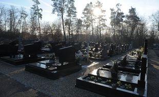 Un cimetière. (Illustration)