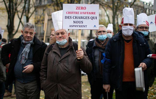 648x415 restaurateurs manifestent paris 14 decembre 2020