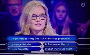 Question viennoiserie à la télévision suédoise.