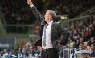 Vincent Collet demande un titre à ses joueurs. Le coach de la SIG et les Strasbourgeois débutent en Leaders Cup vendredi à 13h face au Havre. (Archives)