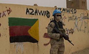 Le 28 juillet, un soldat de l'ONU à Kidal (Mali).