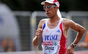 Yohann Diniz, aux championnats d'Europe de Barcelone, le 30 juillet 2010.