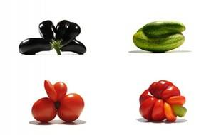 Les fruits et légumes sauvés du gaspillage alimentaire par Gueules cassées.