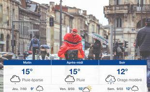 Météo Bordeaux: Prévisions du mercredi 6 mars 2019