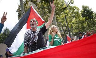 Manifestation pro-palestinienne à Paris, le 9 août 2014.