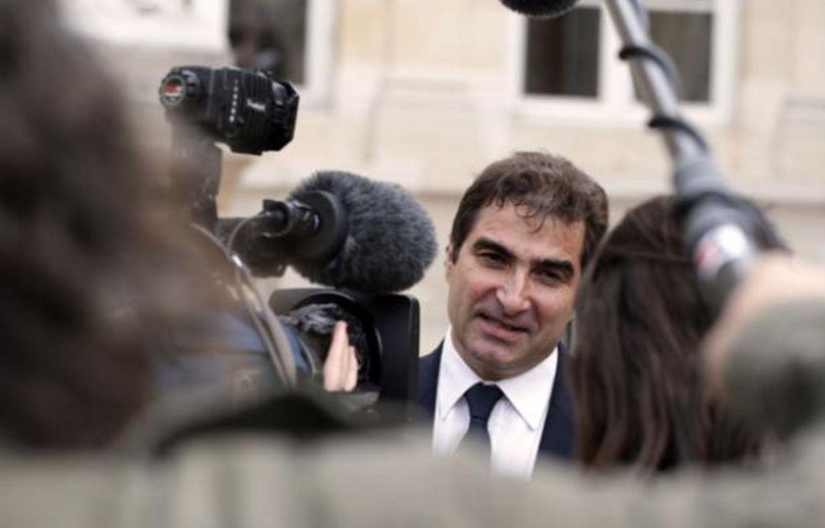 Christian Jacob, le patron des députés UMP, en course pour sa réélection, le 19 juin 2012 à Paris. – K. TRIBOUILLARD / AFP