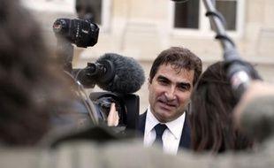 Christian Jacob, le patron des députés UMP, en course pour sa réélection, le 19 juin 2012 à Paris.