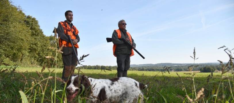 Des chasseurs lors de l'ouverture de la chasse en septembre 2018.