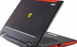 L'Acer Ferrari, que Microsoft a envoyé à une centaine de blogeurs pour qu'ils testent Windows Vista.