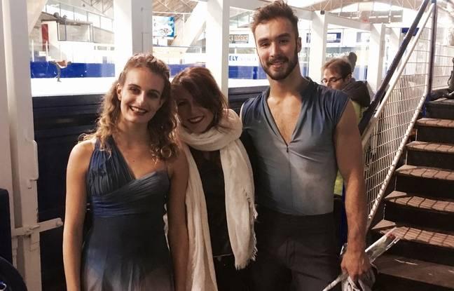 Sophie Thomas et les danseurs sur glace Gabriella Papadakis et Guillaume Cizeron.