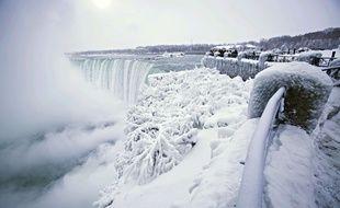 Les chutes du Niagara phtographiées le 29 décembre 2017.