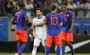 Messi face à la Colombie