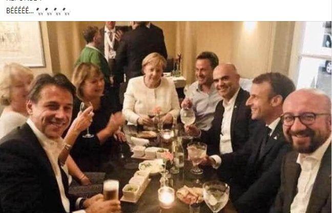 La photo devenue virale des dirigeants européens sortie de son contexte.