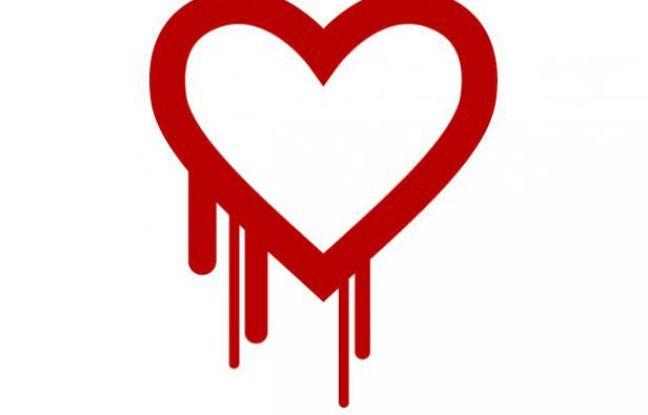 Le logo officiel du bug «heartbleed», qui affecte le protocole OpenSSL.