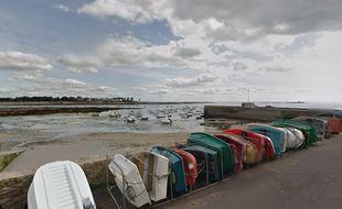 Le bord de mer sur la commune de Ploemeur (Morbihan)