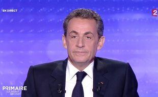 Nicolas Sarkozy, lors du dernier débat de la primaire à droite, le 17 novembre.