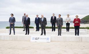 Photo des leaders du G7 le 11 juin 2021.