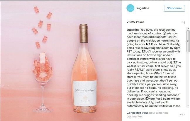 Capture d'écran du compte Instagram de Sugarfina