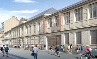 Vue du futur nouveau collège du centre-ville de Nantes