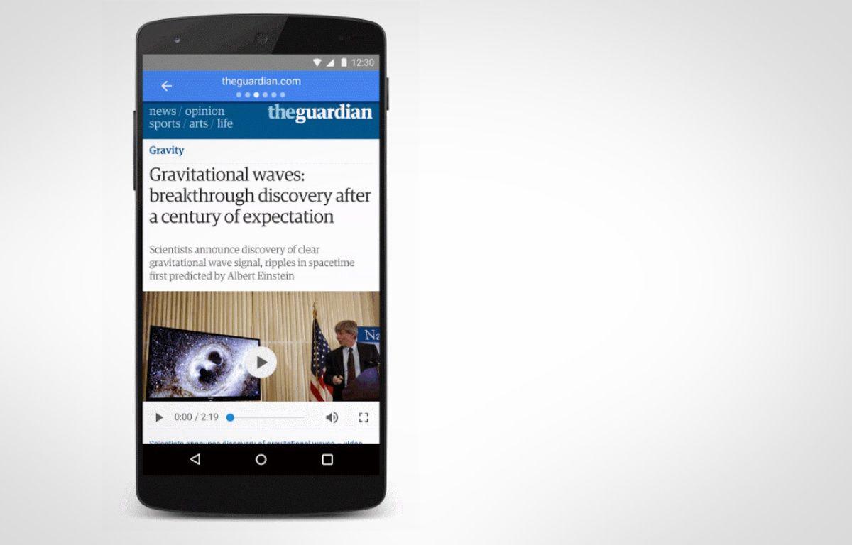 Exemple des pages mobiles accélérées AMP de Google. – GOOGLE