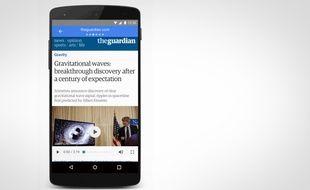 Exemple des pages mobiles accélérées AMP de Google.