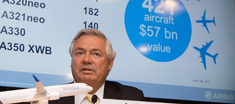John Leahy, le directeur commercial d'Airbus.