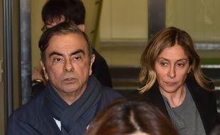 Carlos Ghosn et son épouse Carole Ghosn.