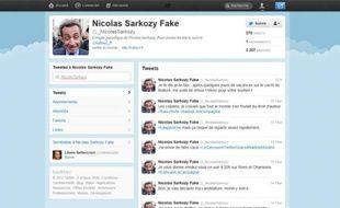 Le compte Twitter parodique «Nicolas Sarkozy Fake», @_NicolasSarkozy.
