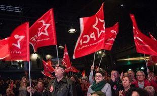 Des militants du Parti communiste français, le 5 février 2019 à Marseille.