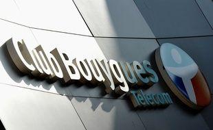 Logo d'une boutique Bouygues Telecom à Dunkerque, le 1er avril 2014.