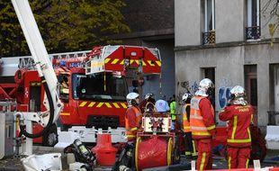 L'incendie d'un immeuble d'habitations à Ivry-sur-Seine.