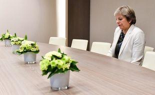 La première ministre britannique Theresa May à Bruxelles, le 19 octobre 2017.