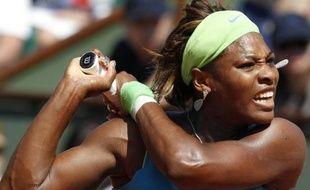 Serena Williams lors du premier tour de Roland-Garros, le 24 mai 2010.