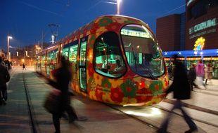 Le tramway de Montpellier (ici la ligne 2).