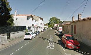 L'agression a eu lieu dans la rue Papon à Langon, près de Bordeaux.