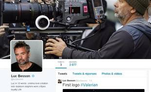 Luc Besson et son compte Twitter le 11 mai 2015