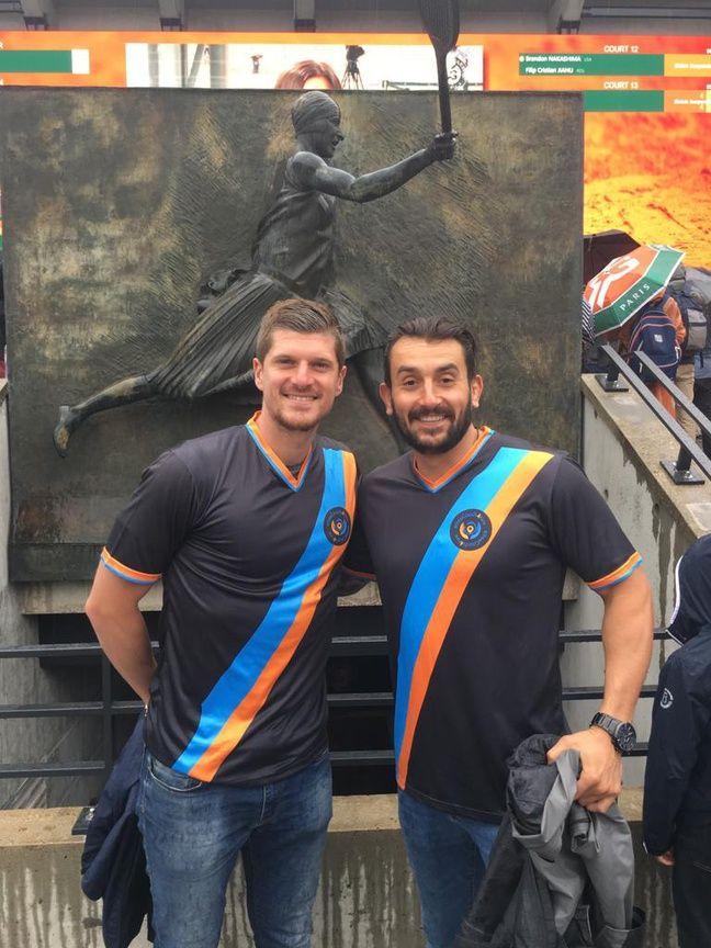 Yohan (à gauche) et Xavier (à droite, du coup) ce mercredi à Roland-Garros.