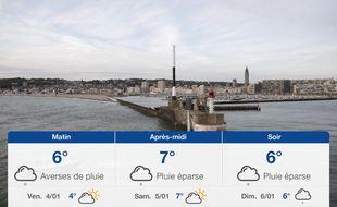 Météo Le Havre: Prévisions du jeudi 3 janvier 2019