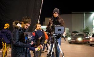 Nathan Ambrosioni, sur le tournage