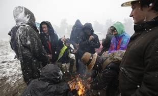 Les participants au Teknival 2019, qui s'est déroulé dans la Creuse ce week-end, ont dû affronter des chutes de neige.