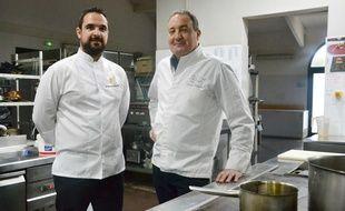 Julien Sahnoune, chef du Disini (à gauche) et Jacques Mazerand, chef du Mazerand (à droite) participeront au concours.