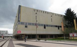 A Villeneuve-d'Ascq, l'entree de l'université de Lille-3. (Illustration)