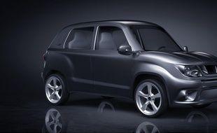 La Gazelle est un véhicule en matériau composite qui consomme trois fois moins qu'un véhicule classique