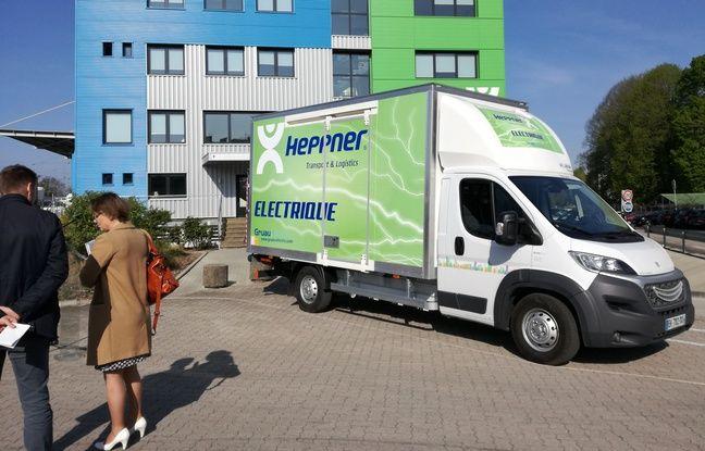 L'utilitaire de 3,5 tonnes utilisé par le transporteur Heppner à Strasbourg est conçu par l'entreprise Gruau.