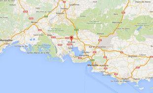 Google map de Miramas (Bouches-du-Rhône).