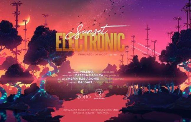 Visuel onirique pour la soirée Sunset Electronique