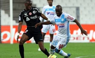 Lassana Diarra lors d'OM-Reims, le 7 mai 2016.